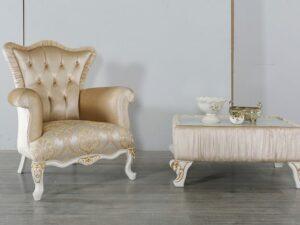 Kursi Ruang Keluarga Mewah Klasik Salon